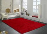 Hoogpolig rood vloerkleed Alabama 630 Rood_