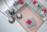 Vloerkleden en karpetten aanbieding Palma Pink_