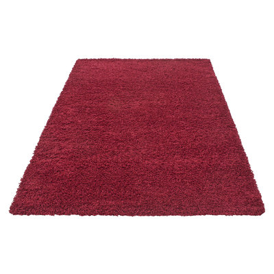Rood hoogpolig vloerkleed Fair 4000/AY Rood