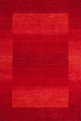 Wollen vloerkleed Welsch Rood