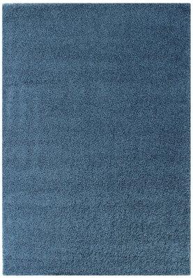 Blauw hoogpolig vloerkleed Calys 170