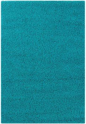 Turquoise hoogpolig vloerkleed Calys 170