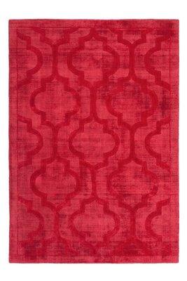 Rood vloerkleed, karpet of tapijt gemaakt van viscose Santarina