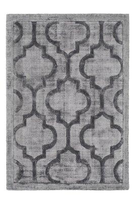 Vloerkleed, karpet of tapijt gemaakt van viscose Santarina Grijs