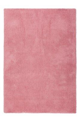 Roze hoogpolig vloerkleed Komodo