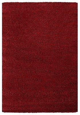 Rood hoogpolig vloerkleed of karpet Celebes 1000