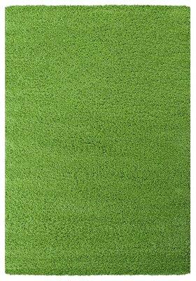 Groen hoogpolig vloerkleed of karpet Celebes 1000