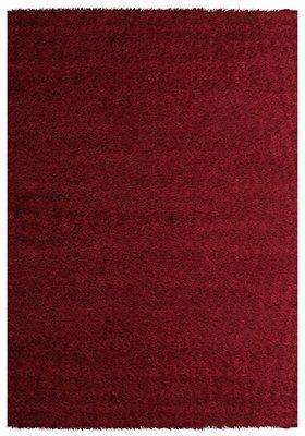 Hoogpolig rood vloerkleed Java 1100