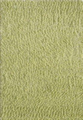 Hoogpolig groen vloerkleed Java 1100