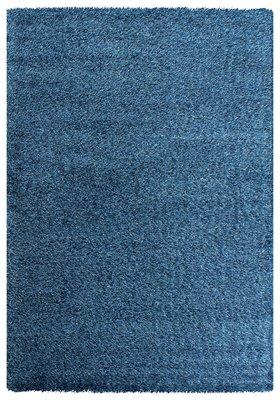 Blauw hoogpolig vloerkleed Java 1100