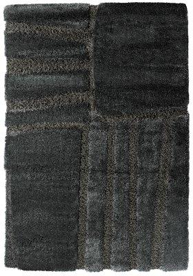 Hoogpolig soft vloerkleed Palu 1901 Antraciet