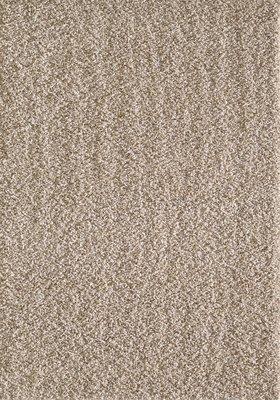 Hoogpolig effen beige vloerkleed Seram 1300