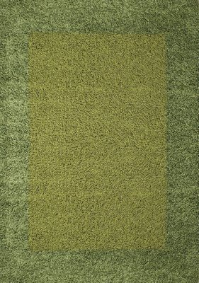 Groene hoogpolige vloerkleden Adriana Shaggy  1500/AY