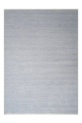 Vloerkleed geweven Taunus blauw
