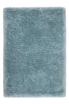Hoogpolig handgemaakt vloerkleed Morres 444 kleur Blauw