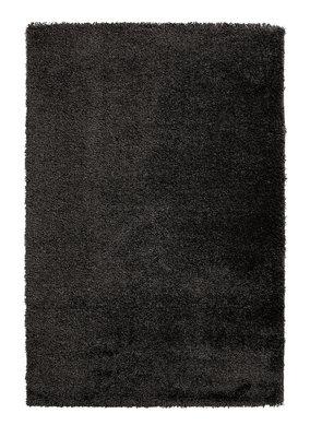 Zwaar hoogpolig vloerkleed Loreal kleur zwart 01810A