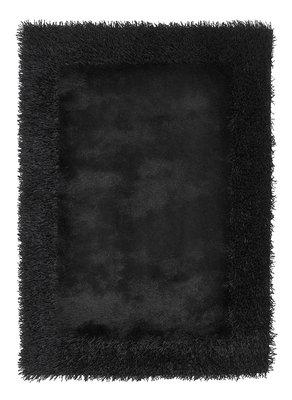 Effen vloerkleed Comfort zwart 2