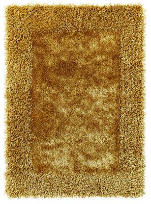 Effen vloerkleed Comfort kleur geel 2