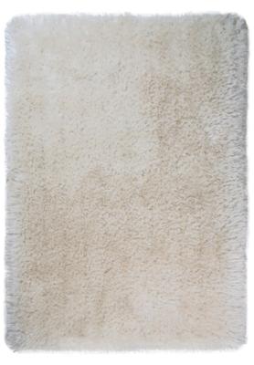 Hoogpolige vloerkleed Promisse kleur wit
