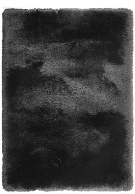 Hoogpolige vloerkleed Promisse kleur zwart