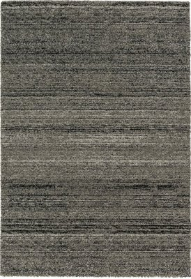 Effen vloerkleed Soraja kleur antraciet 150/040