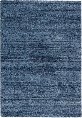 Effen vloerkleed Soraja kleur blauw 150/020