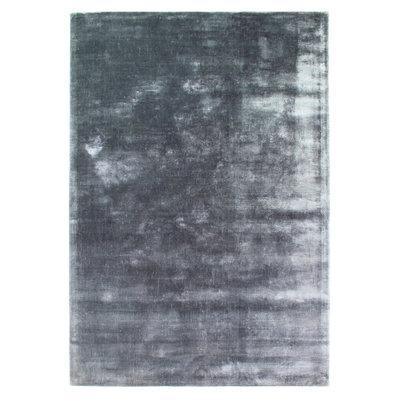 Effen vloerkleed Cordoba kleur zilver