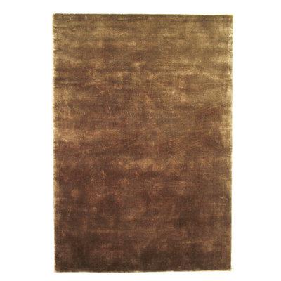 Effen vloerkleed Cordoba kleur brons
