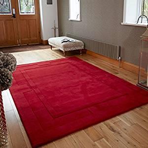 rood wollen vloerkleed